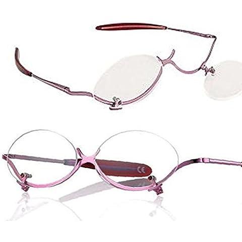 Gafas para maquillaje en metal italiana CentroStyle flip up +2.00 +2.50 +3.00 (+2.50)