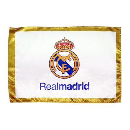 BANDERA OFICIAL REAL MADRID MODELO BLANCO 150X100CM