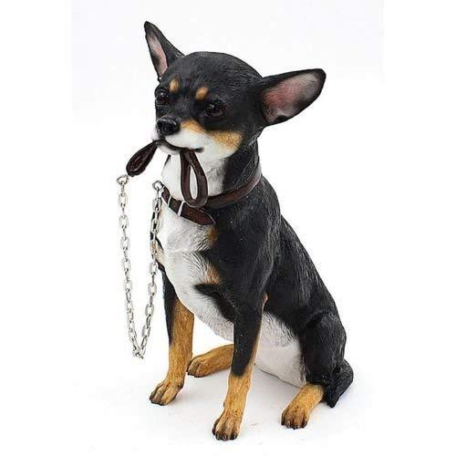 Lesser & ‿Pavey Walkies Assis Chihuahua Noir Hauteur 19 cm