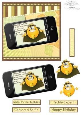 Censored umoristico per selfie Smart Phone rapido di Janet Briggs