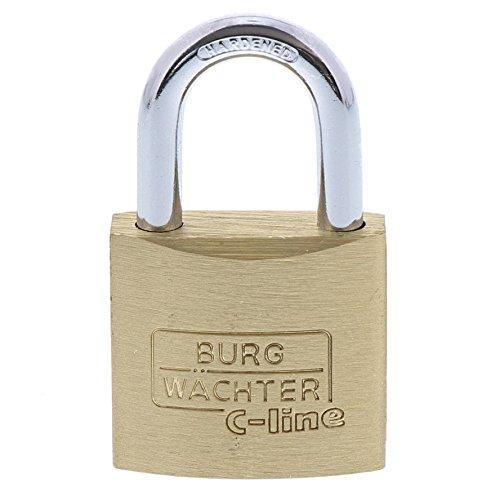 BURG-WÄCHTER Vorhängeschloss, 3er-Set, 5 mm Bügelstärke, 4 Schlüssel, Trio 222 30 SB