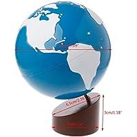 Kofun niños aprendizaje temprano juguete Montessori geografía materiales globo de MUNDO partes blanco