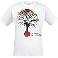 Red Hot Chili Peppers Higher Ground Hombre Camiseta Blanco, Regular