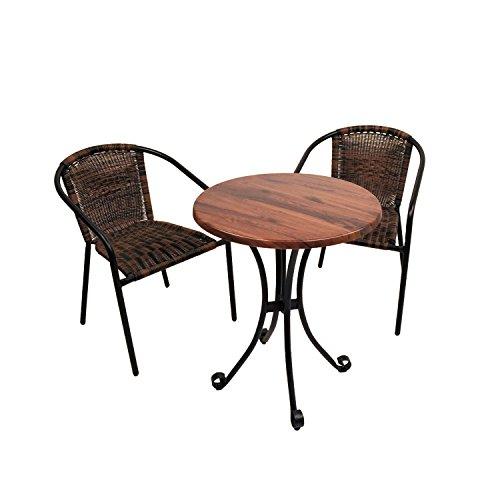 europaleisure Sommer Terrasse St/592San Remo dalarnas Bistro Set–Holz Effekt braun Holz Bistro Patio Set