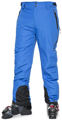 Trespass DLX Coffman, Blue, L, Wasserdichte Skihose mit Knöchelreißverschlüssen, Knöchelgamaschen & Seitenbelüftung für Herren, Large, Blau (Wasser-ski-schlitten)