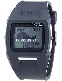 Nixon Lodown II Charcoal - Reloj de cuarzo para hombre, correa de plástico color gris