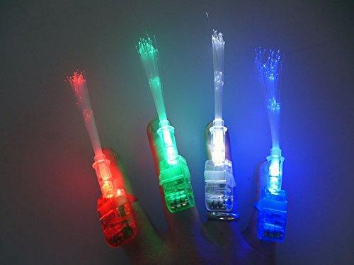 20 Fingerlichter / Finger-Light / je 5x rot, grün, blau, weiß / 12cm