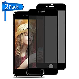 Privacy Screen Protector for iPhone 8 Plus/ 7 Plus, ANYOYO 2 Packs Tempered Glass Screen Protector Premium Anti-Spy/Fingerprint/Scratch 3D Full Coverage Screen Protectors - Black [Easy Install]