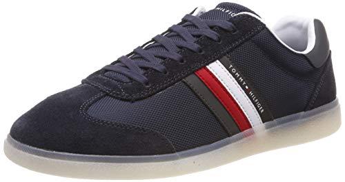 Tommy Hilfiger Herren Seasonal Corporate Mix Cupsole Sneaker, Blau (Midnight 403), 43 EU Navy Leder High Heels