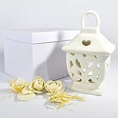 Idea Regalo - Albalù Italia Bomboniere Lanterna Porcellana Shabby Chic