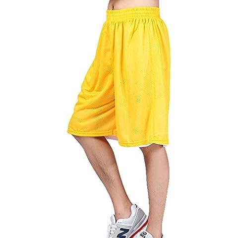 HOEREV Reversibile Sport Short da basket, senza tasche
