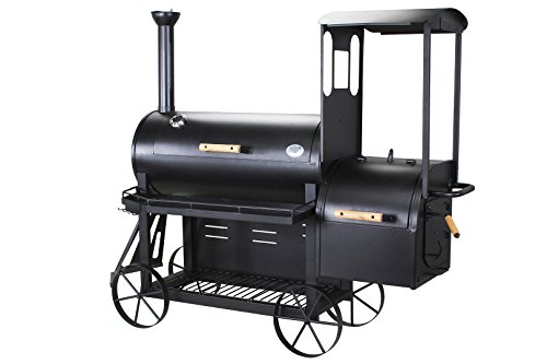 Smoker/Grill Charcoal Barbecue Train Steam Train Barbecue BBQ 3�mm Sheet Steel Wheels Train Design