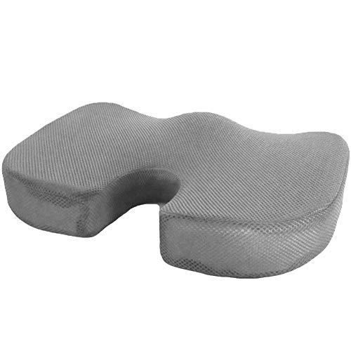 hefeibiaoduanjia Tragbares Sitzkissen aus Memory-Schaum, Gel-Sitzkissen orthopädisch, Schmerzlinderung, tragbar, Memory-Schaum, Gel-Sitzkissen, 6# - Gelb Bettbezug King-set