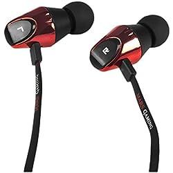 Mars Gaming MIH2 - Auriculares gaming in-ear (sonido premium 2 vías, drivers neodimio, almohadillas intercambiables, micrófono, cable antitorsión, jack 3.5mm, PC / PS4 / XBOX ONE / Smartphone)