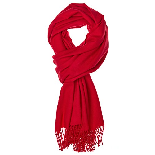 World of Accessories feiner Pashmina Damenschal (Rot)