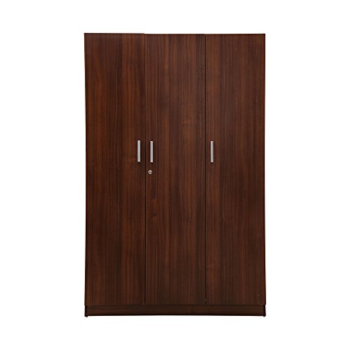 Nilkamal Reegan 3-Door Wardrobe without Mirror (Wenge Finish, Brown)  available at amazon for Rs.21338