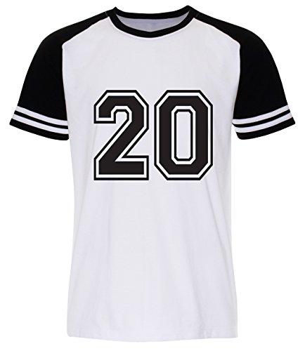 PALLAS Men's Number 20 Street T Shirt White