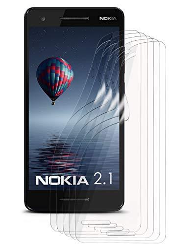 moex 5X Nokia 2.1 | Schutzfolie Klar Bildschirm Schutz [Crystal-Clear] Screen Protector Display Handy-Folie Dünn Bildschirmschutz-Folie für Nokia 2.1 Bildschirmfolie