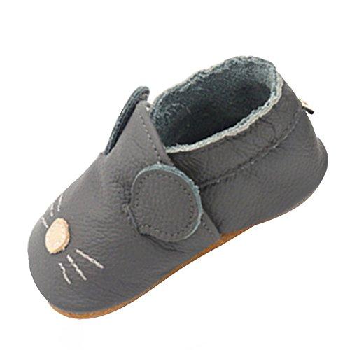 LPATTERN Baby Jungen/Mädchen Sommer Babyschuhe Lauflernschuhe Krabbelschuhe, Grau Ratte/Maus, 12-18 Monate -