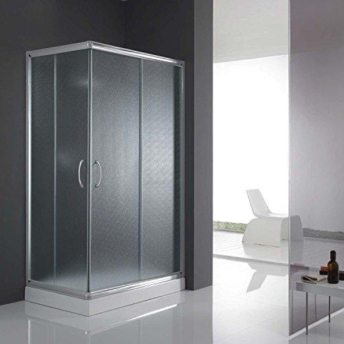 Eckeinstieg Duschkabine 90x70 CM H185 Satiniert 5mm Glas Mod. Alabama (Glas Nicht Tür Dusche)