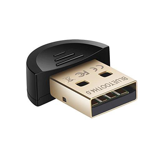 onviantech Bluetooth Dongle Adapter 4.0CSR USB, Bluetooth-Sender und Empfänger für Laptop PC Computer (Pc-bluetooth-empfänger)