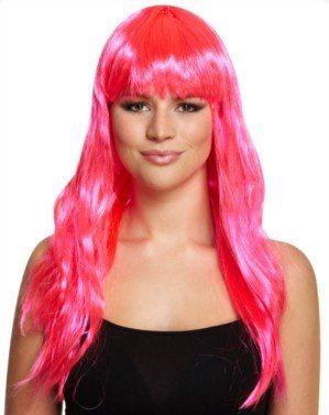 Long 52cm Fringed Cosplay Katie Perry Wig - Blue, Red, Black or Pink (Pink) by (Perry Perücken Katie)