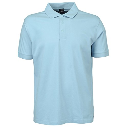 Tee Jays Herren Luxury Stretch Polo-Shirt, Kurzarm (2XL) (Himmelblau)