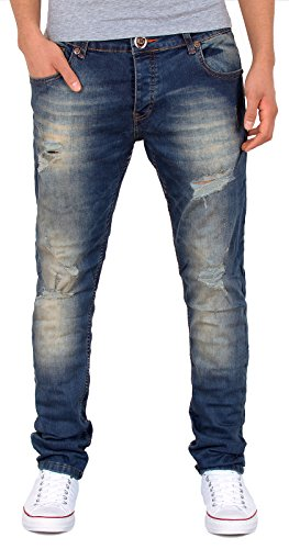 by-tex Herren Jeans Hose Slim Fit Jeanshose Destroyed Used Look Jeans A425 A425