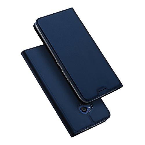 HTC U11 Life Hülle, DUX DUCIS Skin Pro Series Ultra Slim Layered Dandy, Ständer, Magnetverschluss,TPU Bumper, Full Body Schutz für HTC U11 Life (Blau) (Htc-handy-fall-geldbörse)