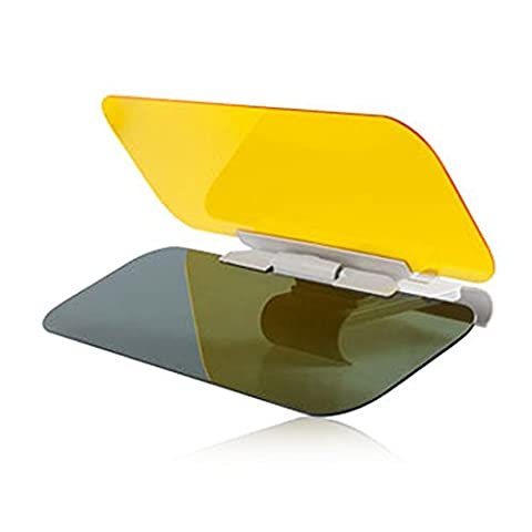 Togather® 2 in 1 HD Vision Car Sun Anti-UV Block Visor Protection Driving Anti-Dazzle Sunshade Mirror Goggles Shield Board Day and Night Anti-Glare Visor