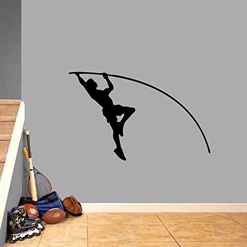 Zhuhuimin Stabhochsprung Athlet Wandtattoo Sportmannschaft Leichtathletik Kinderzimmer Klassenzimmer Ankleidezimmer Abnehmbare Wand Art Deco Vinyl Wandaufkleber 1 30x46 cm