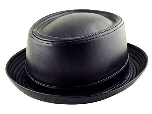 Itzu - Chapeau Porkpie - Uni - Homme - Noir - Small