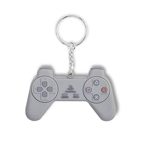 Preisvergleich Produktbild Playstation Schlüsselanhänger PS1 Retro Controller aus Weichgummi in 3D-Optik Rubber Keyring PS 1
