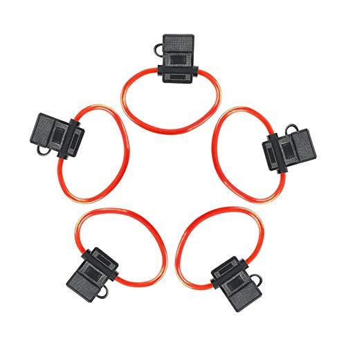 Majome 5 pcs ATC Calibre 12 Porte fusible en Ligne d'alimentation AWG Durable de Remplacement pour Voiture Auto véhicule