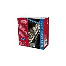 Konstsmide 3790-100 Cluster Guirlande d'Eclairage Extérieur 360 Micro LEDs 24 V Blanc Chaud Câble Noir