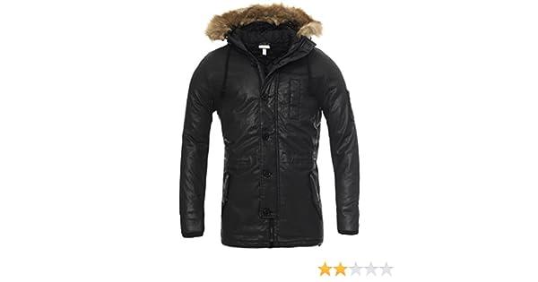adidas Mens Mens Coated Jacket in Black XL: adidas: Amazon