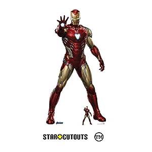 STAR CUTOUTS SC1314 Marvel Iron Man Robert Downey Jr - Figura de cartón de los Vengadores de los Vengadores, 185 cm, Multicolor