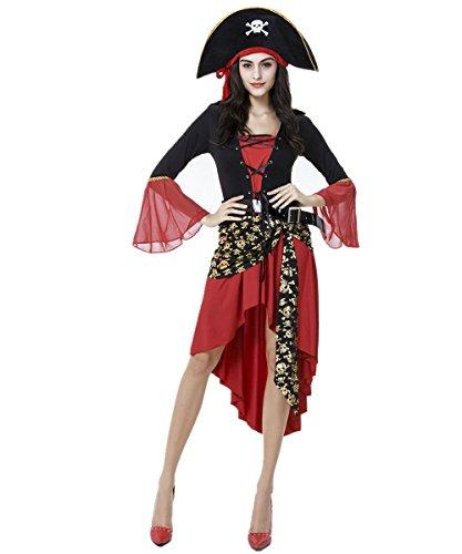 Brand new Halloween-Kostüm Soloo Fluch der Karibik Kostüm-Party Kleidung weibliche Modelle zeigen Kleider mit Kapuze und Gürtel