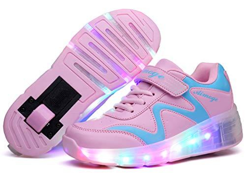 Zapatillas de Ruedas con Luces con Ruedas Zapatillas de Deporte LED Zapatillas...