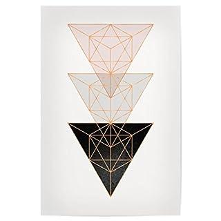 artboxONE Poster 30x20 cm Geometric Triangles von Künstler Linsay Macdonald
