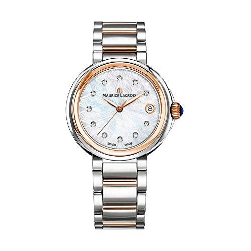 Maurice Lacroix Fiaba Round FA1007-PVP13-170-1 Reloj de Pulsera para mujeres con diamantes genuinos