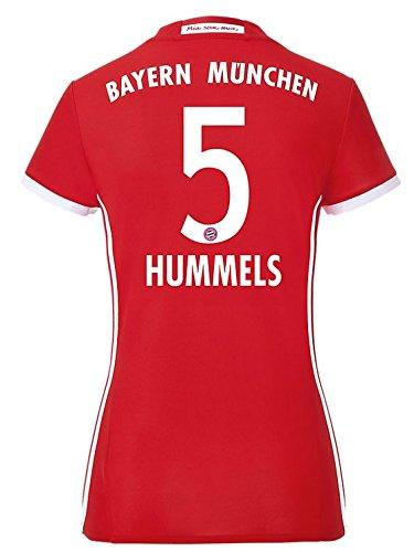Adidas-Maglietta da donna/Home calcio FC Bayern München Replica, Hummels 5, M