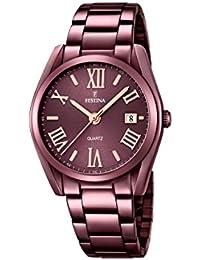 Festina Damen-Armbanduhr Analog Quarz Edelstahl F16865/1