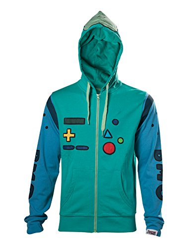 Adventure Time Kapuzenpullover BMO Inspired Cosplay Costume offiziell Herren Nue (Adventure Time Cosplay)