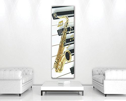 FORWALL Bilder Saxophon O3 (45cm. x 145cm.) Leinwandbilder Wandbild AMFPP11556O3