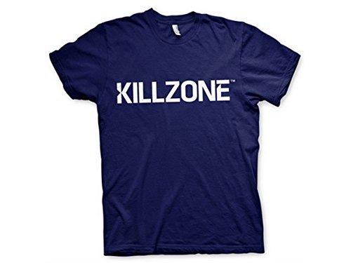 Killzone T Shirt Logotype Charter Nue offiziell PS4 Herren Schwarz Navy