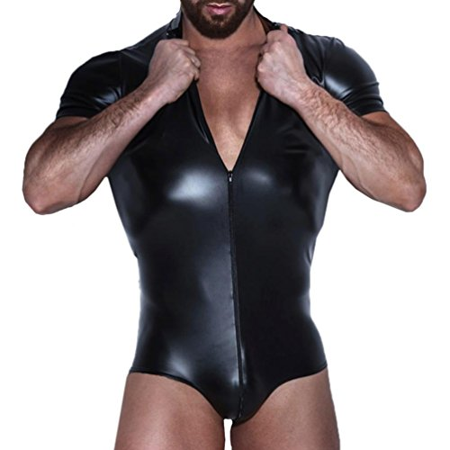 UExpectating-Mens-Seductive-Lingerie-Artificial-Leather-Zipper-Bodysuit-One-Piece-Collar-Stretch-Bodywear-Clubwear-Catsuit-Jumpsuit