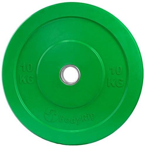 BodyRip-2-x-10kg-IWF-COLOURED-OLYMPIC-BUMPER-WEIGHT-DISC-PLATES-FITNESS-GYM