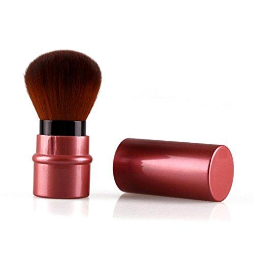 Kolylong® Pinsel Set Make Up Foundation Kosmetik Retractable Pulver Pinsel Rote