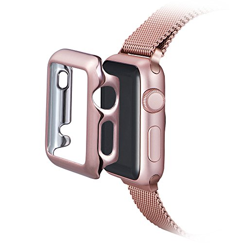 Apple Watch Custodia , PUGO Apple Watch Protettivo Case Cover Custodia Tough Armor per Apple Watch / Watch Sport,Only Designed for Apple Watch Series 1